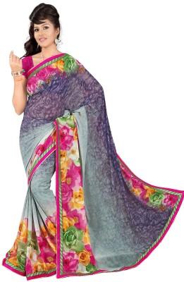 Janya Self Design Manipuri Georgette Sari