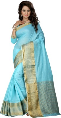 Pehnava Self Design Banarasi Polycotton Sari