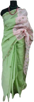 Dream,s Designer Embriodered Lucknow Chikankari Handloom Cotton Sari