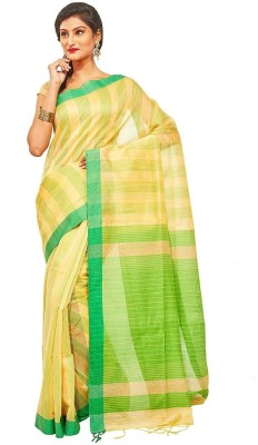 Slice Of Bengal Striped Tant Silk Cotton Blend Sari