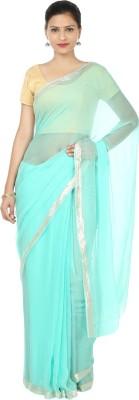 Narangi Solid Fashion Chiffon Sari