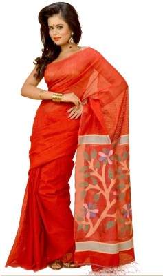 Indian Saree Mandir Self Design Baluchari Cotton Sari