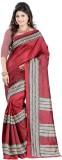 DWM Printed Fashion Art Silk Sari (Maroo...