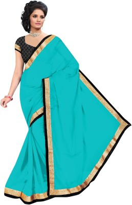 revathi textiles Plain Fashion Chiffon Sari