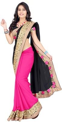 Karan Fashion Embriodered Daily Wear Georgette Sari