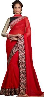 Renuja Embriodered Fashion Georgette Sari