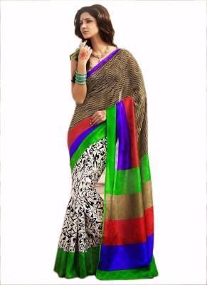 Anand Sarees Printed Bhagalpuri Raw Silk Sari