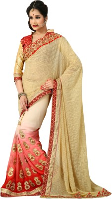 Go4fashion Self Design Fashion Brasso, Georgette Sari
