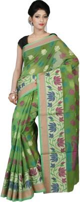 Silk Line Sarees Woven Banarasi Silk Cotton Blend Sari