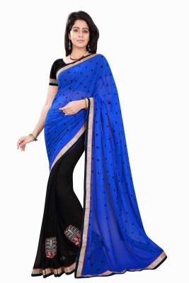 Sourbh Sarees Plain Fashion Georgette Sari