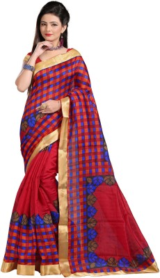 Karmafreshlooks Printed Bollywood Raw Silk Sari