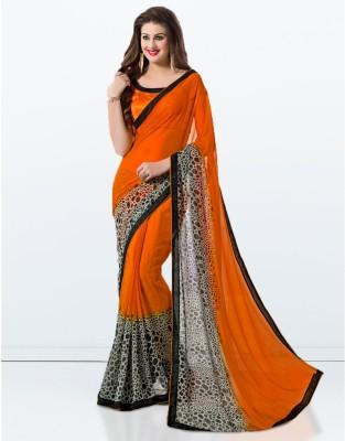 Zemi Animal Print Daily Wear Georgette Sari