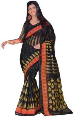 Siddharth Polka Print Fashion Polycotton Sari