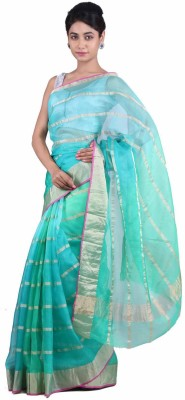 Geroo Striped Fashion Kota, Silk Sari