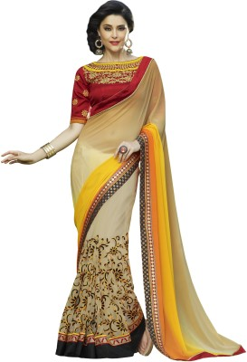 Sarika Fashion Floral Print Fashion Georgette Sari