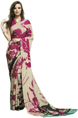 Shaily Self Design Bollywood Crepe Sari