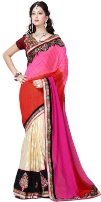 Aditya Creation Embriodered Fashion Georgette Sari