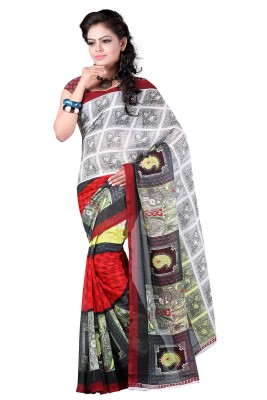 Aarnas Fashion Printed Fashion Georgette Sari