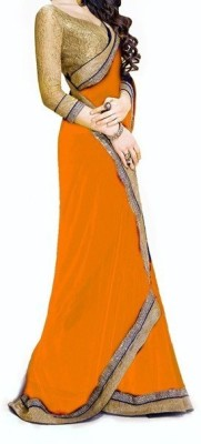 Saiyaara Fashion Plain, Self Design Bollywood Georgette Sari