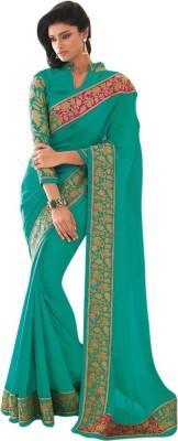 Vishal Prints Plain Fashion Synthetic Georgette Sari