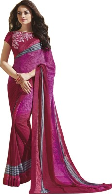 NKMChic Printed Fashion Georgette Sari