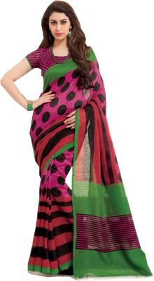 Swaman Polka Print Fashion Jute Sari