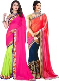 Kesar Sarees Embroidered Daily Wear Geor...