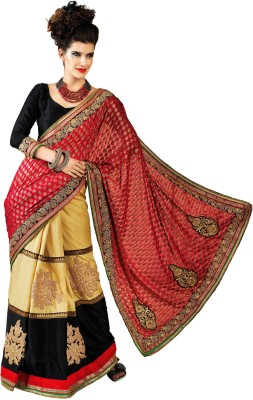 Chirag Sarees Self Design Fashion Chanderi Sari