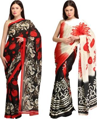 Skyline Trading Self Design Daily Wear Georgette, Art Silk Sari
