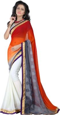 Gunjan Creation Self Design Fashion Pure Crepe Sari