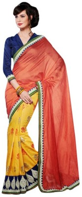 RG DESIGNERS Embriodered Fashion Silk Sari