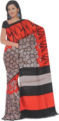 BPS Printed, Floral Print, Geometric Print Bhagalpuri Handloom Printed Silk, Art Silk, Khadi, Silk Cotton Blend Sari