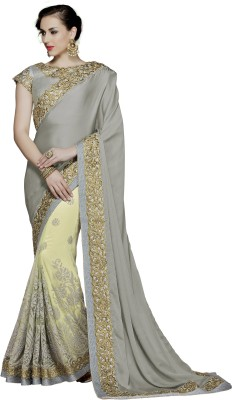 Mahotsav Embroidered Fashion Silk Saree(Green) at flipkart