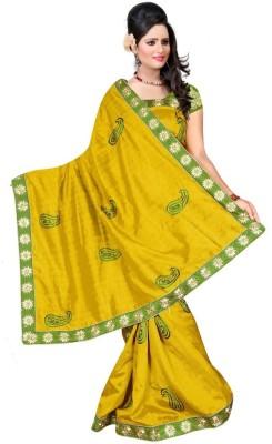 Kuvarba Fashion Embriodered Bollywood Cotton Sari