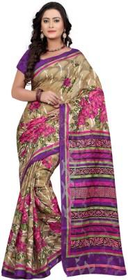 Fabdeal Printed Daily Wear Jacquard Sari