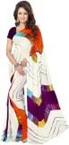 Kmozi Printed Bandhej Art Silk Saree (Mu...