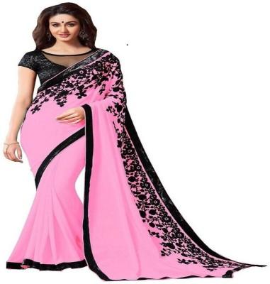 VINCITORE Embriodered Fashion Georgette Sari