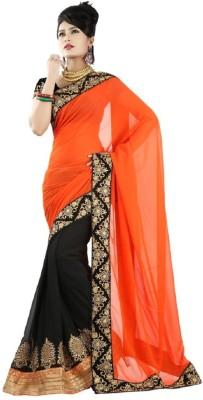 Vgold Self Design Fashion Georgette Sari