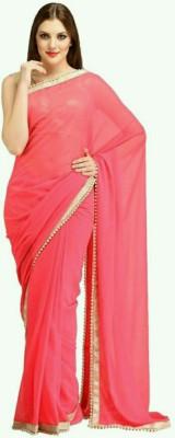 stylish sarees Plain Fashion Chiffon Sari