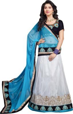 Prafful Embriodered Lehenga Saree Net Sari