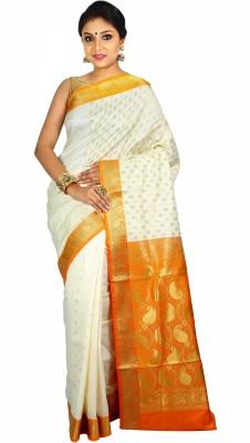 Womilo Self Design Banarasi Banarasi Silk Sari