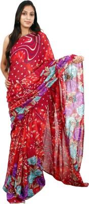 Shree Ji Graphic Print Daily Wear Synthetic Sari
