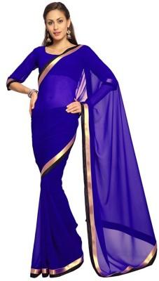 Monika Silk Mill Plain Daily Wear Georgette Sari