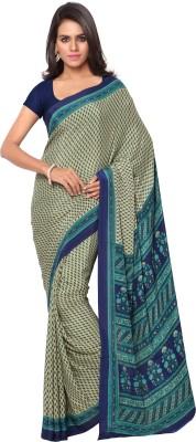 Goodfeel Floral Print Daily Wear Crepe Sari