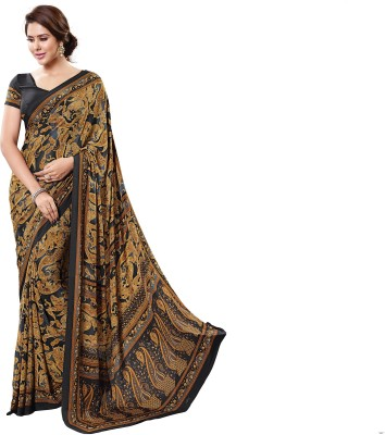 Hiba Couture Printed Daily Wear Handloom Crepe Sari