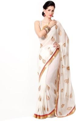 Muta Fashions Embriodered Fashion Chiffon Sari