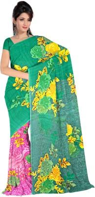 Premium Fashion Floral Print Fashion Handloom Synthetic Sari