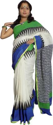 KheyaliBoutique Graphic Print Tant Cotton Sari