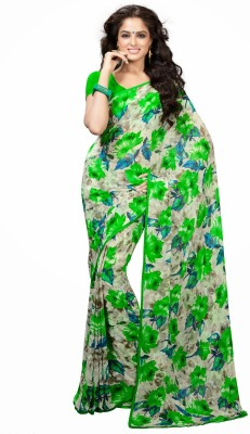 Cutie Pie Printed Daily Wear Handloom Georgette Sari