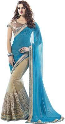TrynGet Embriodered Fashion Handloom Georgette Sari